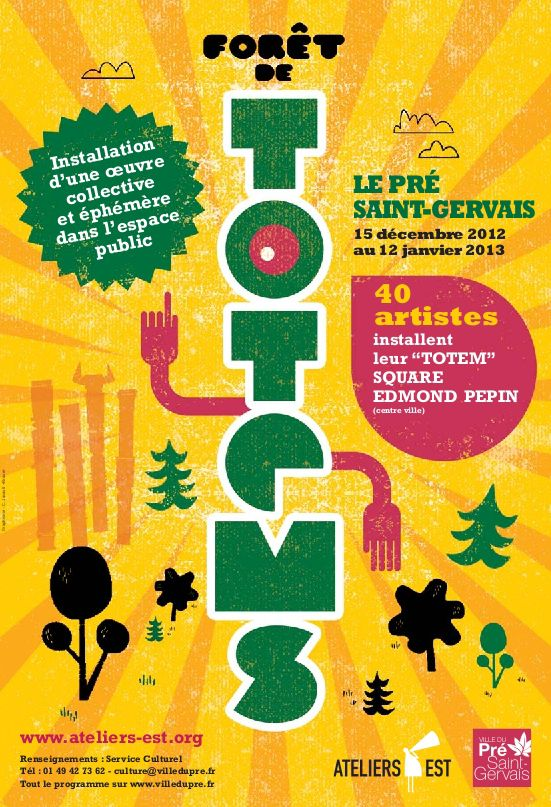 """affiche de l'exposition """"forêt de totems"""" recto"""